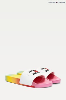 Tommy Hilfiger Pink Rainbow Degrade Pool Slides