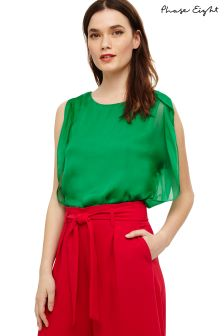 Phase Eight Parakeet Green Angie Angel Sleeve Silk T-Shirt