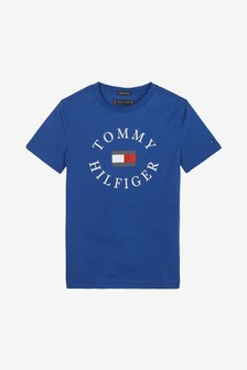 Tommy Hilfiger Boys Essential Crew Neck Logo T-Shirt