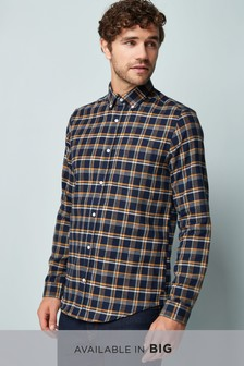 Long Sleeve Flannel Check Shirt