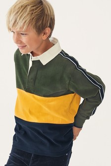 Colourblock Rugby Shirt (3-16yrs)