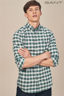 GANT June Bug Green Heather Oxford Plaid Shirt