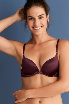 Cara Push-Up Plunge Smooth Microfibre Bra