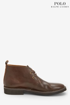 Polo Ralph Lauren Brown Leather Talan Chukka Boots