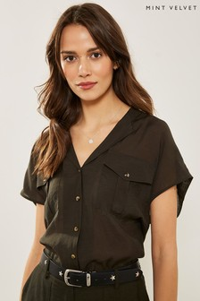 Mint Velvet Khaki Resort Shirt