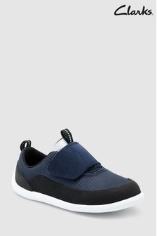 Clarks Toddler Navy Play Spark Flex Velcro Shoe