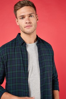 Long Sleeve Black Watch Check Shirt