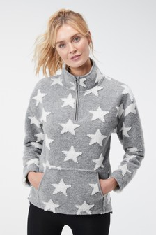 Half Zip Snuggle Top