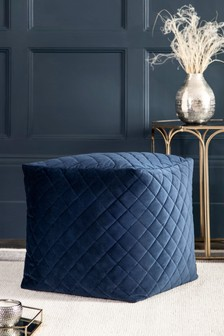 Quilted Cube Pouffe