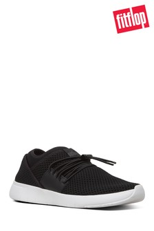 FitFlop™ Black Mesh Angeline Lace-Up Sneaker