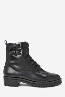 Signature Comfort Chunky Lace-Up Boots