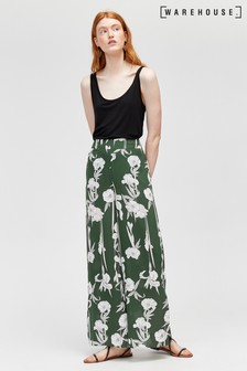 Warehouse Tiger Lily Trousers Green