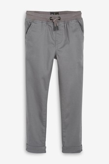 Rib Waist Pull-On Trousers (3-16yrs)