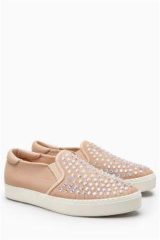 Diamanté Skater Shoes