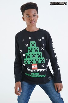 Long Sleeve Minecraft T-Shirt (4-14yrs)