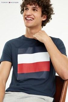 Tommy Hilfiger Blue Embossed Flag Box T-Shirt