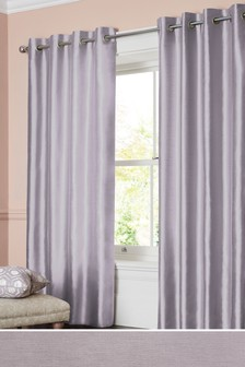 Faux Silk Eyelet Lined Curtains