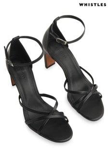 Whistles Silver Hallie Strappy Sandals