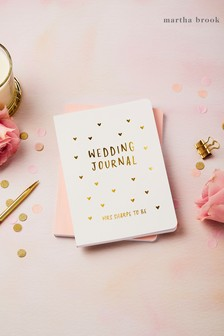 Personalised Hearts Wedding Journal by Martha Brook