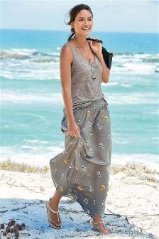 Printed Maxi Skirt