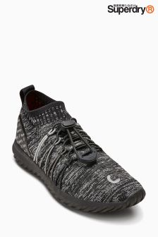 Superdry Black Superfly Sock Trainer