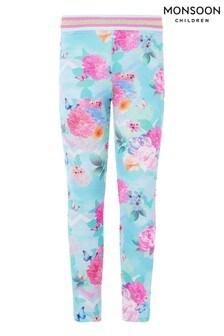 Monsoon Blue Floral Print Leggings