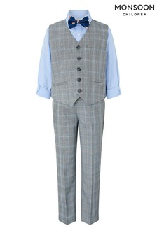 Monsoon Grey Nile 4 Piece Waistcoat Set