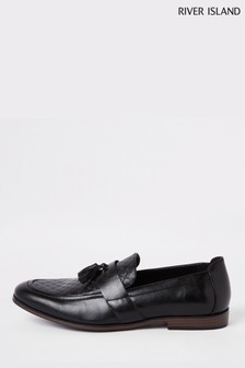 River Island Mono Emboss Loafer