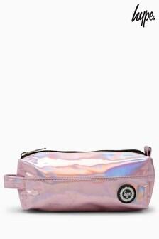 Hype. Pink Holgram Pencil Case