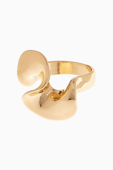 Dented Effect Twist Ring