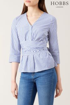 Hobbs Blue/White Helena Top