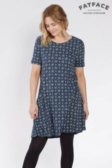 FatFace Navy Simone Star Tile Dress