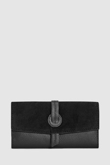 Leather Fold-Over Purse
