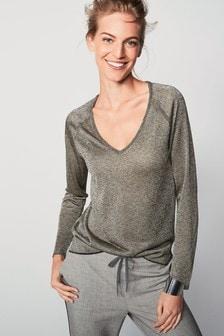 Metallic V-Neck Sweater