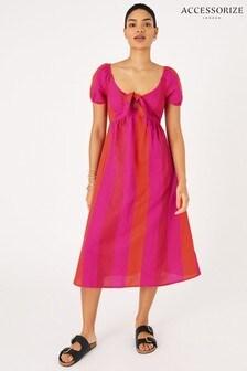 Accessorize Pink Colourblock Beach Dress