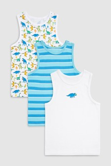 Dino Vests Three Pack (1.5-8yrs)