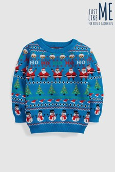 Younger Kids Christmas Wrapping Paper Jumper (3mths-6yrs)