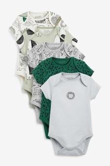 5 Pack Short Sleeve Bodysuits (0mths-3yrs)