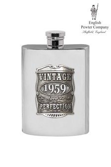 English Pewter Company Vintage Years Hip Flask