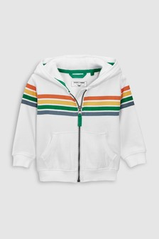 Rainbow Stripe Zip Through Hoody (3mths-6yrs)