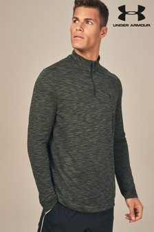 Under Armour Artillery Green Vanish Seamless 1/4 Zip Top
