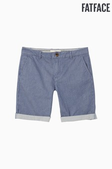 FatFace Blue Falmouth Stripe Chino Short