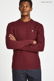 Jack Wills Damson Marlow Cable Crew