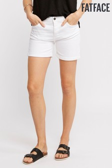 FatFace White Grace Garment Dye Short