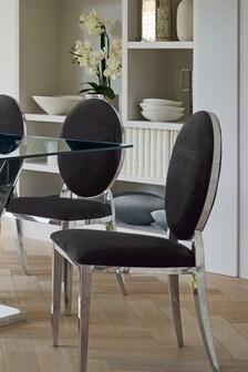 Set Of 2 Elinore Opulent Velvet Dining Chairs