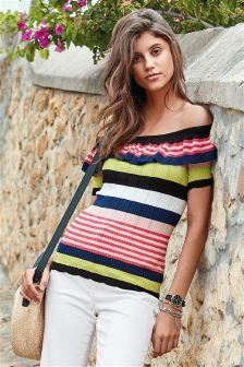 Bardot Ruffle Sweater