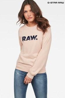 G-Star Pink Xzula Art Womens Long Sleeve Sweater