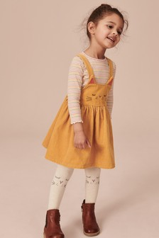 Cord Character Pinafore With Tights (3mths-7yrs)