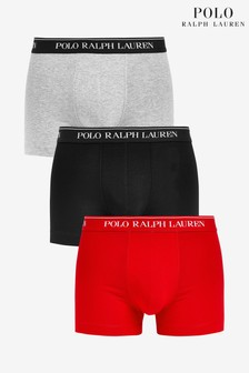 Polo Ralph Lauren® Black Orange Grey Trunks Three Pack