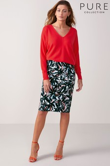 Pure Collection Green Pencil Skirt
